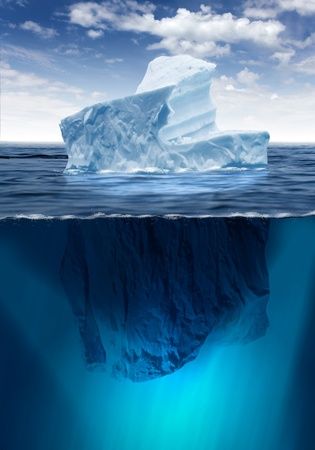 Antarctic iceberg in the ocean  Beautiful polar sea background  photo
