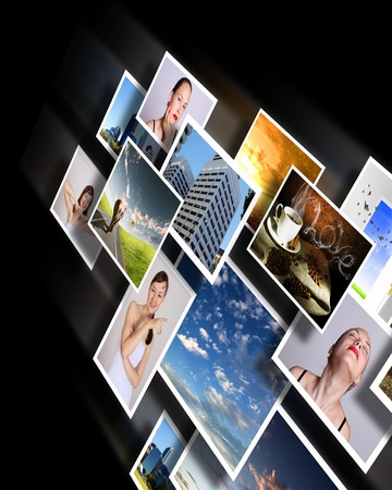 Colour images flow representing modern media technology Stock Photo - 13383024