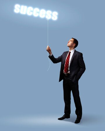 Light bulb and a business person as symbols of creativity in business Stock Photo - 14026215