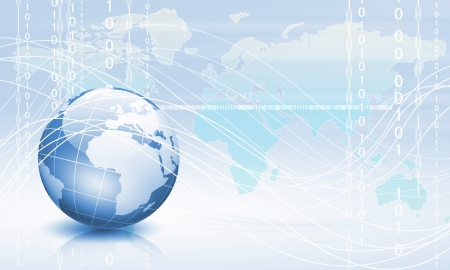 Planet earth and technology background with computer objects Stock Photo - 14056511