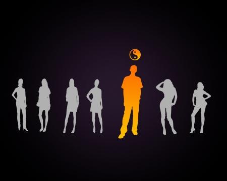dao: Human figure with a dao symbol on the head