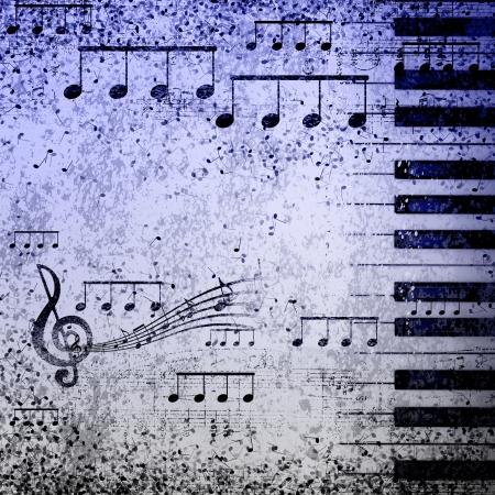 pentagrama musical: documento de antecedentes con la nota que canta en