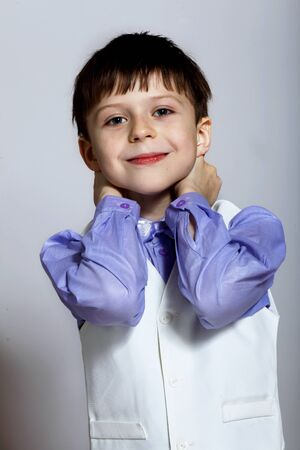 Portrait of a little boy dressed for a celebration Stock Photo - 14174074