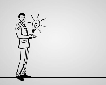 Drawing about creativity and success in business photo