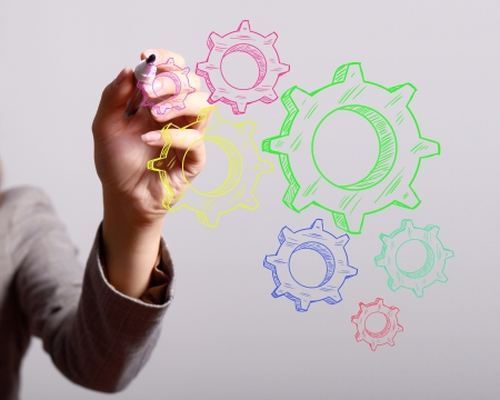 Colour wheels as symbols of engineering and design Stock Photo - 14502309