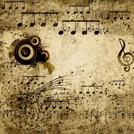 clave de sol: documento de antecedentes con la nota que canta en
