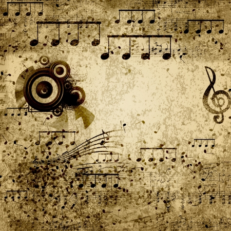 music sheet: paper background with note sings on it Stock Photo