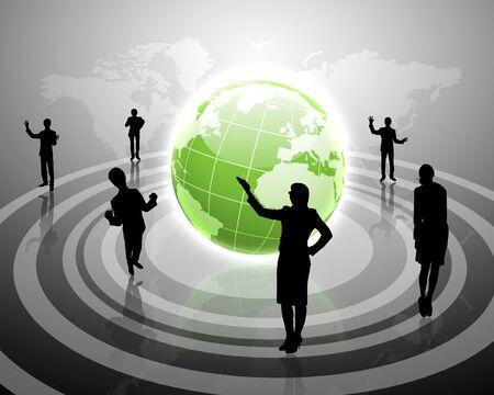 Las figuras humanas conectados en red de comunicación