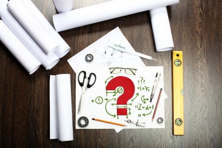 Tools and papers on the table as symbols of business creativity Stock Photo - 14523050
