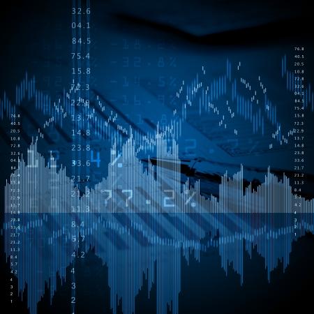 Colour business finance chart, diagram, bar, graphs photo