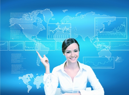 Business person working with modern virtual technology Stock Photo - 14731313
