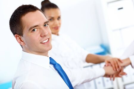Young and successful businessman in the office Stock Photo - 14731423