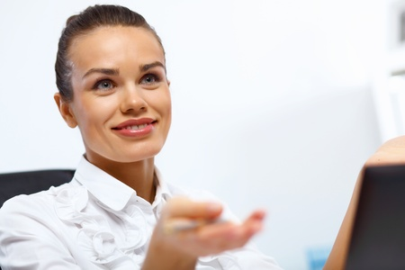Portrait of young successful businesswoman in the office Stock Photo - 14731186