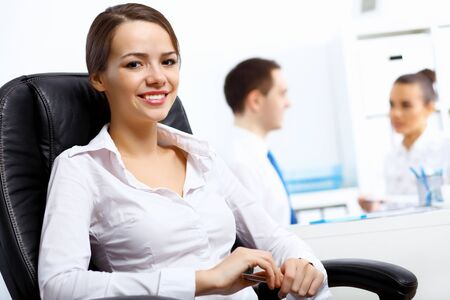 Portrait of young successful businesswoman in the office Stock Photo - 14731427