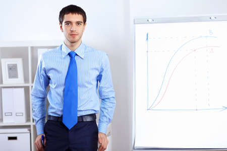 Young and successful businessman in the office Stock Photo - 14731230