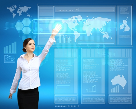 Business person working with modern virtual technology Stock Photo - 14731310