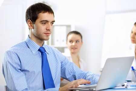Young and successful businessman in the office Stock Photo - 14731294
