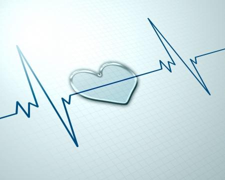 electrocardiogram: Immagine di immagine battito cardiaco su uno sfondo colorato