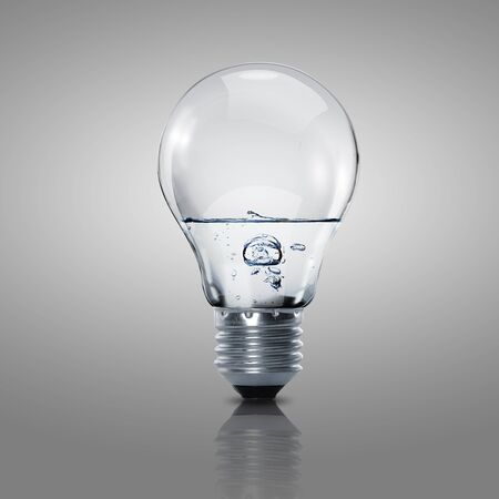Electric light bulb with clean water inside it Stock Photo - 15186119