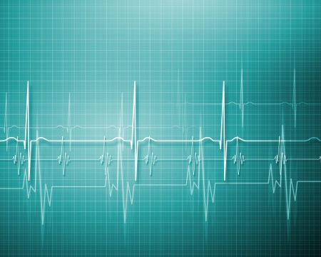 hospital background: Image of heart beat picture on a colour background