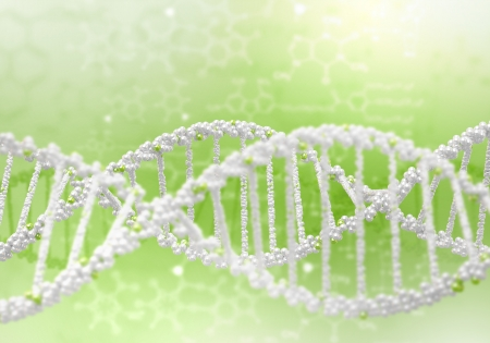 Image of DNA strand against colour background Stock Photo - 15187180