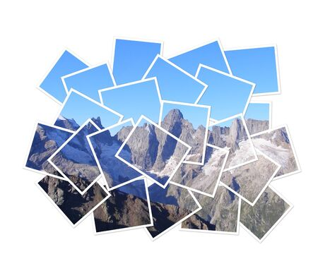 Image of a photograph cut into pieces photo