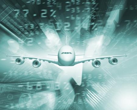 boeing: Immagine di un aereo su sfondo affari
