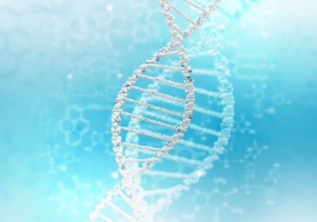 Image of DNA strand against colour background Stock Photo - 15006571
