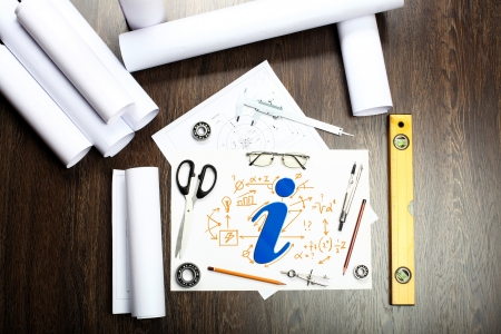 Tools and papers on the table as symbols of business creativity Stock Photo - 15007733