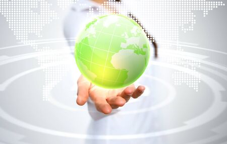 Image of our planet as symbol of social networking Stock Photo - 15006536