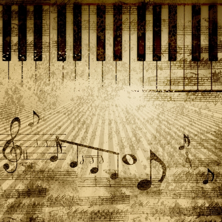 sheet music: paper background with note sings on it Stock Photo