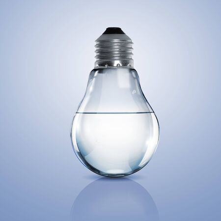 Electric light bulb with clean water inside it Stock Photo - 15008215