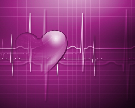 ekg: Image of heart beat picture on a colour background