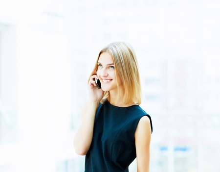 A portrait of a young business woman in an office Stock Photo - 15455621