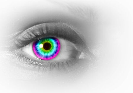 Photo of the human eye against grey background Stock Photo - 15539300