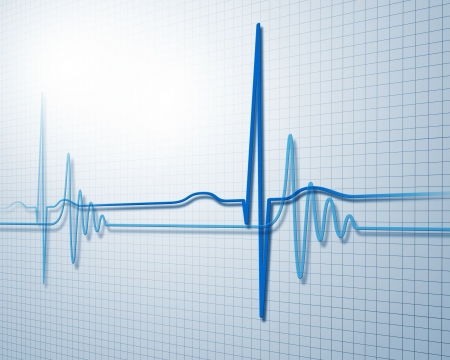 Image of heart beat picture on a colour background Stock Photo - 15539350