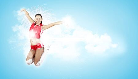 Young woman dancer illustration  With lights effect  Stock Illustration - 15539253