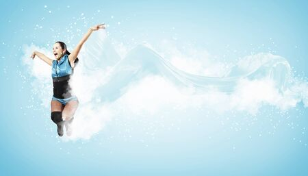 Young woman dancer illustration  With lights effect Stock Illustration - 15537072