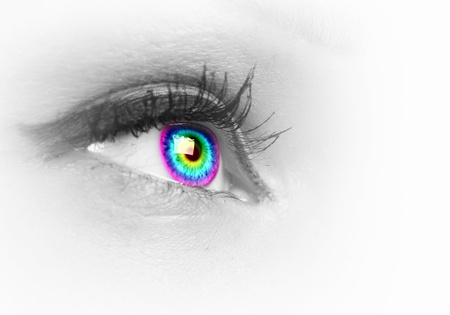 Photo of the human eye against grey background Stock Photo - 15579288