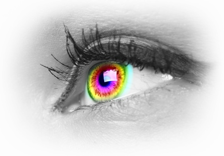 Photo of the human eye against grey background Stock Photo - 15579291