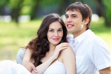 medical field: Portrait of a young romantic couple embracing each other Stock Photo