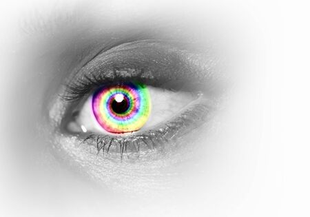 Photo of the human eye against grey background Stock Photo - 15604923
