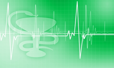Image of heart beat against colour background Stock Photo - 15604899