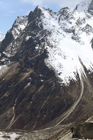 High mountains in cloud  Nepal  Everest  Mountains  photo