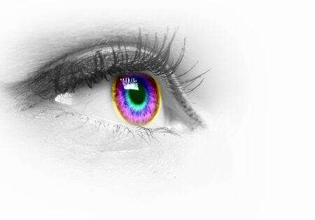 Photo of the human eye against grey background Stock Photo - 15628203