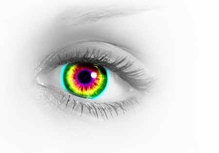 Photo of the human eye against grey background Stock Photo - 15628213