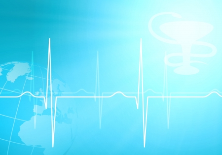 cardiogram: Image of heart beat against colour background