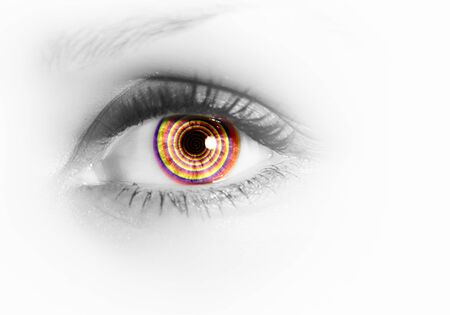 Photo of the human eye against grey background Stock Photo - 15628361