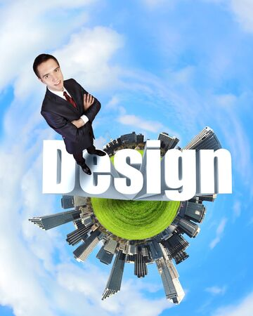 Design and creativity  in business concept illustration illustration