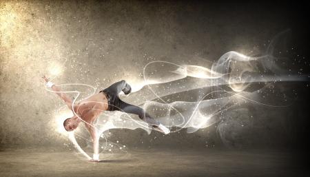 Moderne Tänzer springen und posieren Illustration Standard-Bild